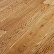 GoodHome Lysekil Natural Oak Solid wood flooring, 1.56m2 Pack