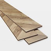 GoodHome Heanor Natural Oak effect Laminate flooring, 2.7m² Pack