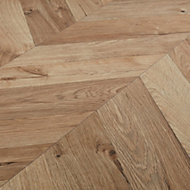 GoodHome Heanor Natural Oak effect Laminate flooring, 2.7m² Pack