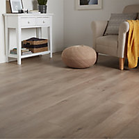 GoodHome Leiston Grey Oak effect Laminate flooring, 1.76m² Pack
