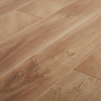 GoodHome Lydney Natural Oak effect Laminate flooring, 1.76m² Pack