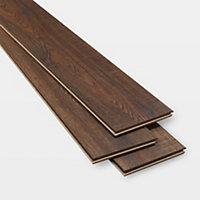 GoodHome Otley Brown Oak effect Laminate flooring, 1.76m² Pack