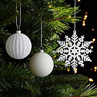 White Assorted Decoration, Pack of 50