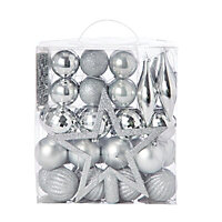 Silver Assorted Decoration, Pack of 50