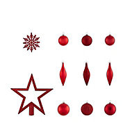 Red Assorted Decoration, Pack of 50