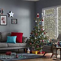 Red & white Gold effect Santa Tree topper