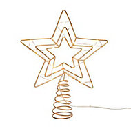Battery operated Wire star Tree topper