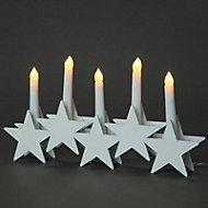 Warm white LED Star Christmas decoration