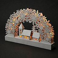 White LED Reindeer forest Silhouette