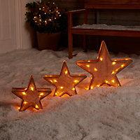 Warm white LED Star trio Silhouette