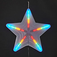 Multicolour LED Chasing star Silhouette