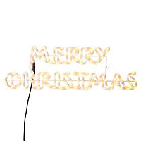 Mains operated Static Merry Christmas Silhouette