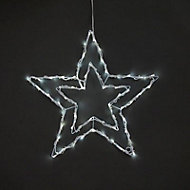 Ice white LED Twinkle star Silhouette