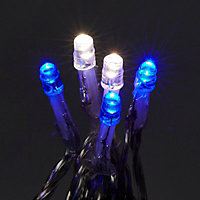 120 Blue & ice white LED String lights