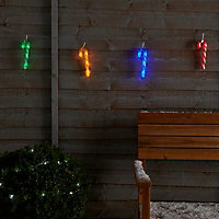8 Multicolour LED Candy cane String lights