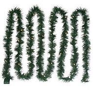 5.49m Pre-lit LED Green Christmas garland
