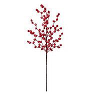 Red Metallic effect Berry design Stem