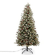 7.5ft Fairview Berry & pine cone design Artificial Christmas tree