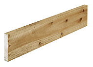 Treated Rough sawn Whitewood spruce Timber (L)1.8m (W)125mm (T)22mm