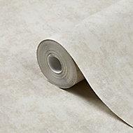 GoodHome Sarry Beige Concrete effect Textured Wallpaper