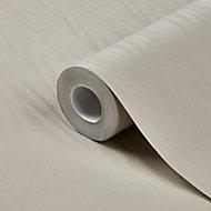 GoodHome Auntun Taupe Metallic effect Textured Wallpaper