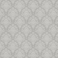 GoodHome Abeli Grey Russian damask Metallic effect Textured Wallpaper