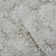 GoodHome Vay Grey Damask Textured Wallpaper