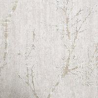 GoodHome Drave Beige Tree Glitter effect Textured Wallpaper