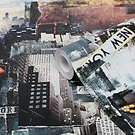 GoodHome Dimeria Multicolour New York Smooth Wallpaper