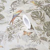 GoodHome Lipia Multicolour Jungle Textured Wallpaper