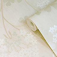 GoodHome Erosa Cream Floral Textured Wallpaper