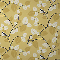 GoodHome Mahot Yellow Modern Textured Wallpaper