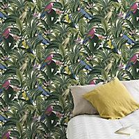 Cleome Multicolour Tropical Textured Wallpaper