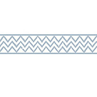 GoodHome Terrica Blue & white Aztec Smooth Border