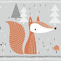 GoodHome Meyeri Multicolour Cartoon foxes Smooth Border
