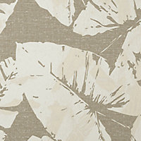 GoodHome Scolyme Cream Leaves Textured Wallpaper