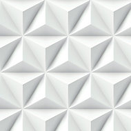 GoodHome Onagre White 3D effect Smooth Wallpaper