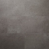 GoodHome Poprock Grey Stone effect Self adhesive Vinyl tile, 1.3m² Pack