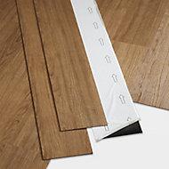 GoodHome Poprock Natural honey Wood effect Self adhesive Vinyl plank, 0.97m2 Pack