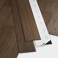 GoodHome Poprock Wood effect Self adhesive Vinyl plank, 0.97m² Pack
