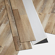 GoodHome Poprock Rustic Wood effect Self adhesive Vinyl plank, 1.11m² Pack