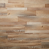 GoodHome Poprock Rustic Wood effect Self adhesive Vinyl plank, 1.11m² Pack