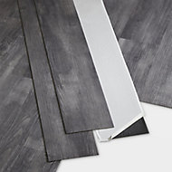 GoodHome Poprock Grey Wood effect Self adhesive Vinyl plank, 1.11m² Pack