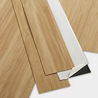 GoodHome Poprock Maple Wood effect Self adhesive Vinyl plank, 1.11m² Pack
