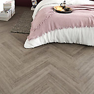 GoodHome Poprock Grey Wood effect Self adhesive Vinyl plank, 1.2m² Pack