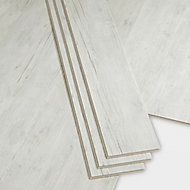 GoodHome Bachata Rustic white Wood effect Luxury vinyl click flooring, 2.56m² Pack