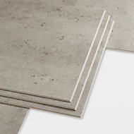 GoodHome Jazy Beige Tile effect Luxury vinyl click flooring, 2.23m² Pack