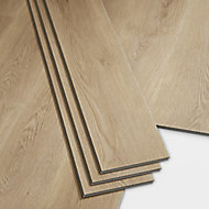GoodHome Jazy Natural Wood effect Luxury vinyl click flooring, 2.2m² Pack