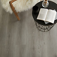 GoodHome Jazy Grey Wood effect Luxury vinyl click flooring, 2.2m² Pack
