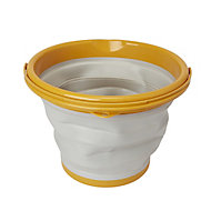 Grey & yellow Collapsible mop bucket